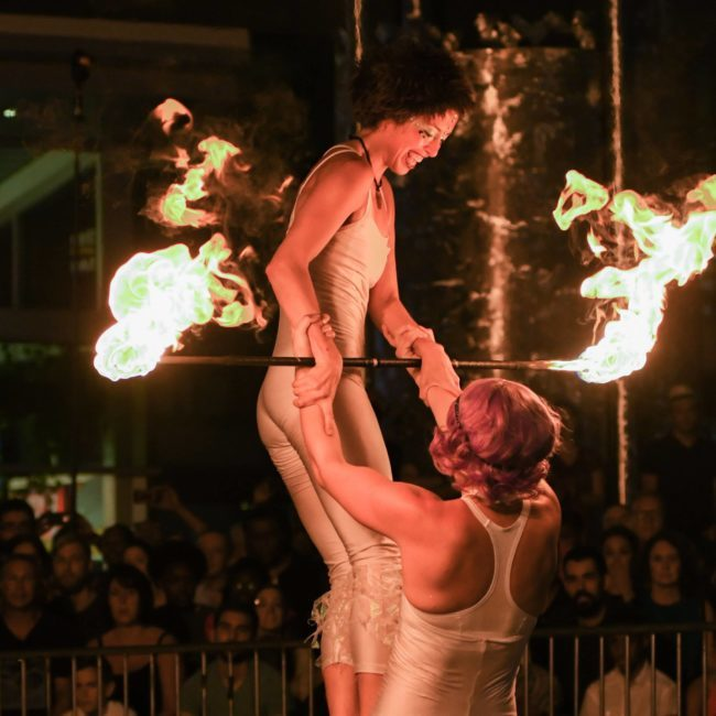 Acrobatic Performance | Fire Acro | Partner | Duo | Imagine Circus | Cirque | Raleigh, NC