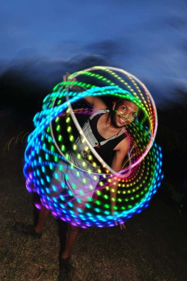 LED Hoop Performer | Ben | Imagine Circus