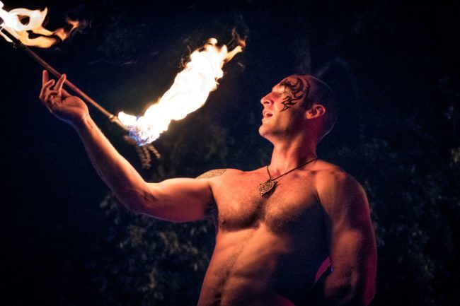 Brady | Fire Performer | Flower Sticks | Tribal | Imagine Circus | Cirque | Raleigh, NC