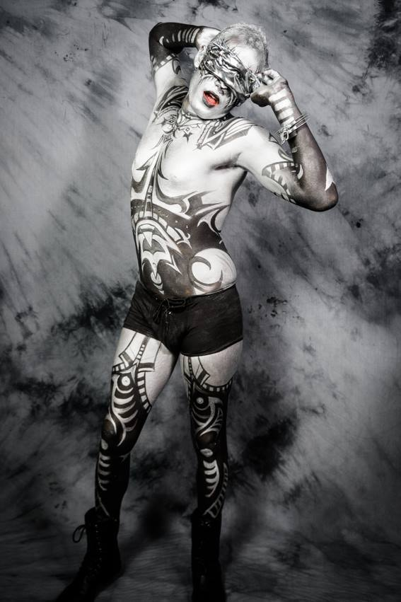 Bodypaint Model Ben | Body Painting by Molly | Imagine Circus | Photo by William Southerland