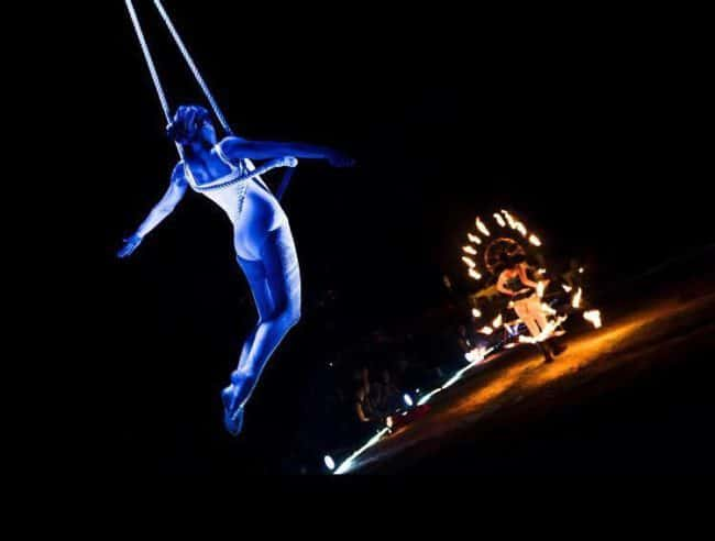 Aerial Performer on Trapeze with Fire | Alex Andra | Imagine Circus