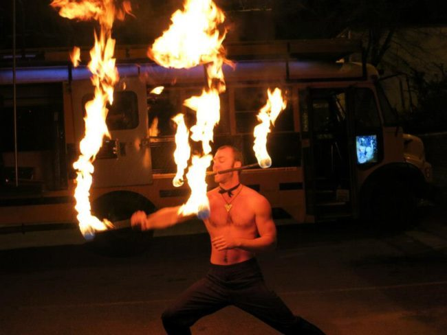 Brady | Fire Performer | Fire Staff | Tribal | Imagine Circus | Cirque | Raleigh, NC