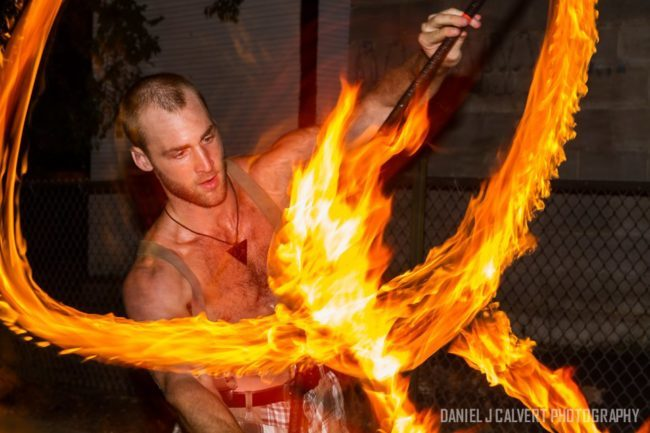 Brady | Fire Performer | Fire Staff | Fire Performance | Adult | Imagine Circus | Cirque | Raleigh, NC