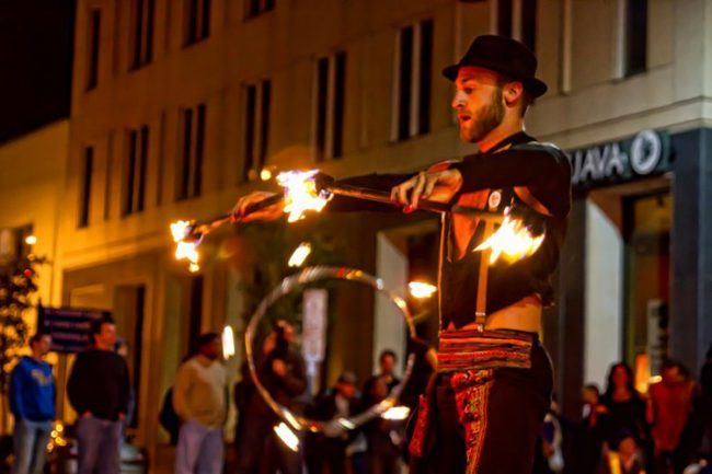 Brady | Fire Performer | Double Staff | Fire Performance | 20s | Speakeasy | Imagine Circus | Cirque | Raleigh, NC
