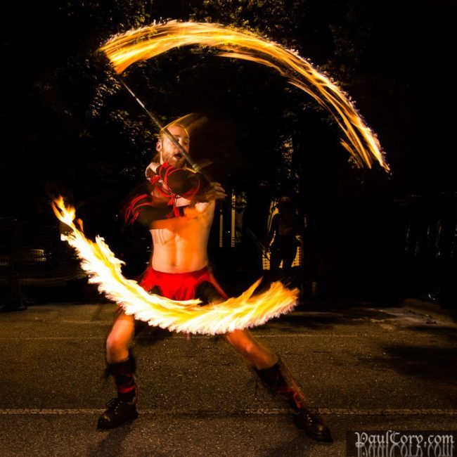 Brady | Fire Performer | Fire Staff | Fire Performance | Gladiator | Imagine Circus | Cirque | Raleigh, NC