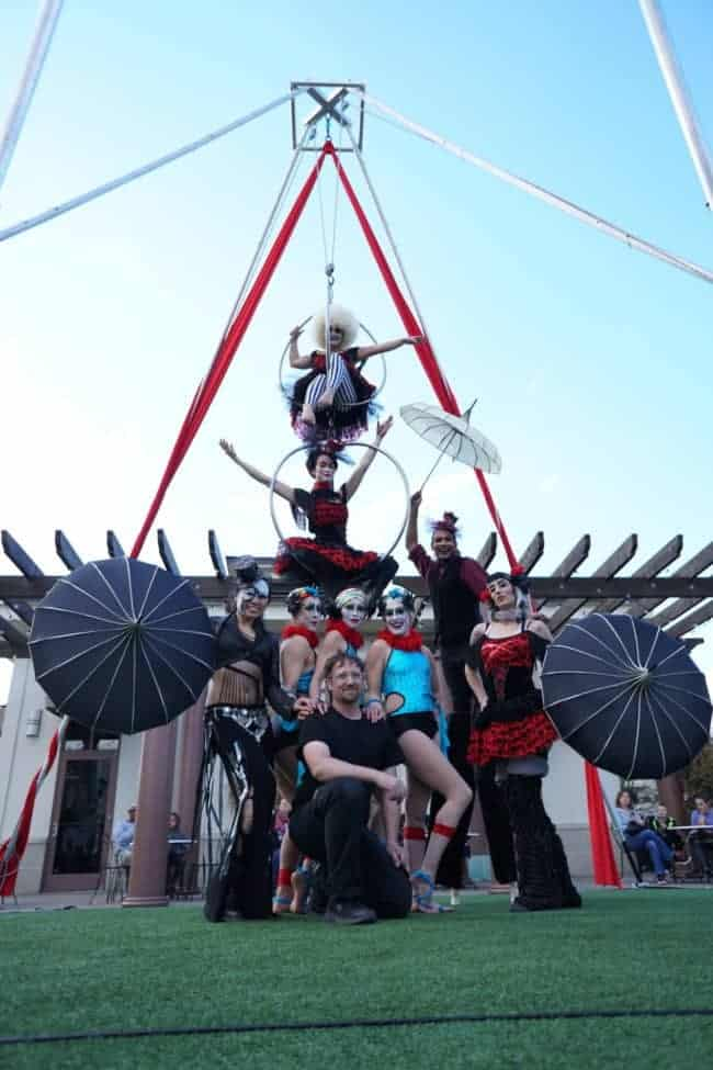 Head Rigger for Imagine Circus, Todd, posing with Performers | Raleigh, NC