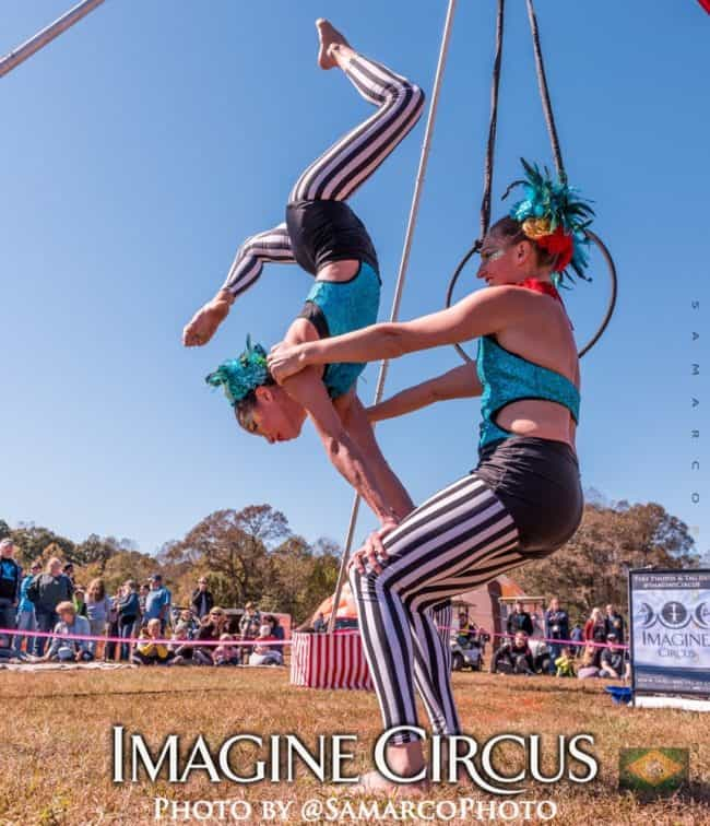 Acrobat Duo, Big Top Circus, Cirque Spectacular, Balloon Fest, Imagine Circus, Peformers, Katie, Kaci, Photo by Gus Samarco