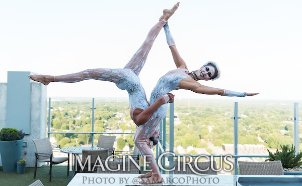 Acrobat Duo, White Feather, Cirque, Imagine Circus, Walter Magazine Photo Shoot, Performers, Liz, Kaci, Photo by Gus Samarco