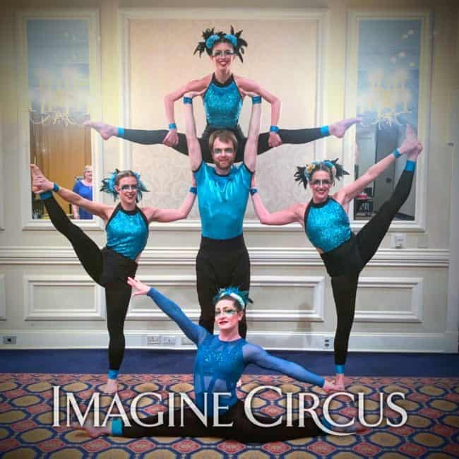Group Acrobatic Pose, BCBS Pinehurst, Imagine Circus