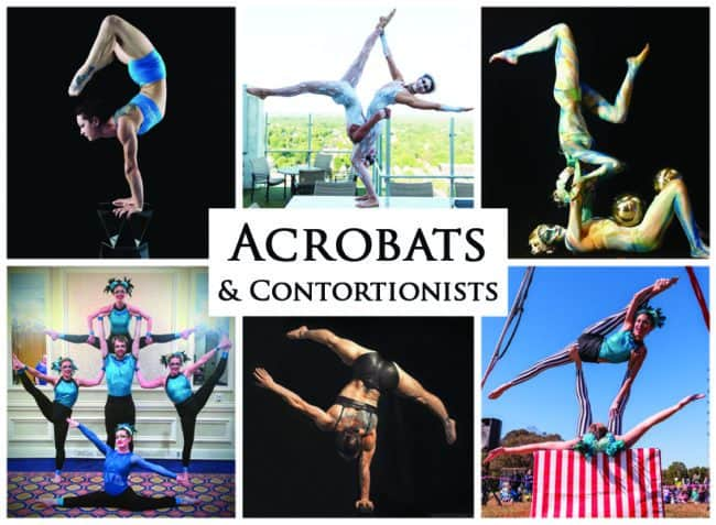 Acrobats & Contortionist | Imagine Circus Performers | Event Entertainment