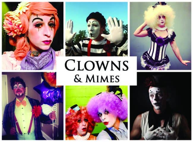 Clowns and Mimes | Imagine Circus Performers | Event Entertainment
