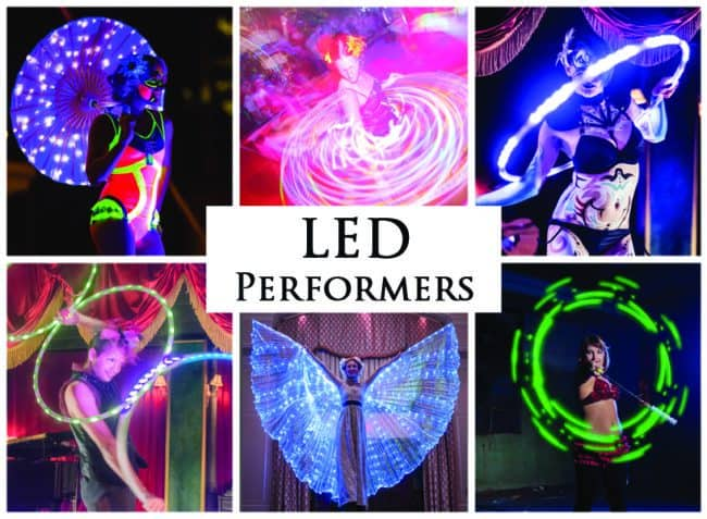 LED Performers | Imagine Circus Performers | Event Entertainment