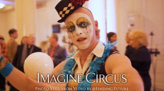 Contact Juggler, Teal, Gold, Cirque, Imagine Circus, Oddball Gala, Performer, Adam, Photo still from video by Finding Future