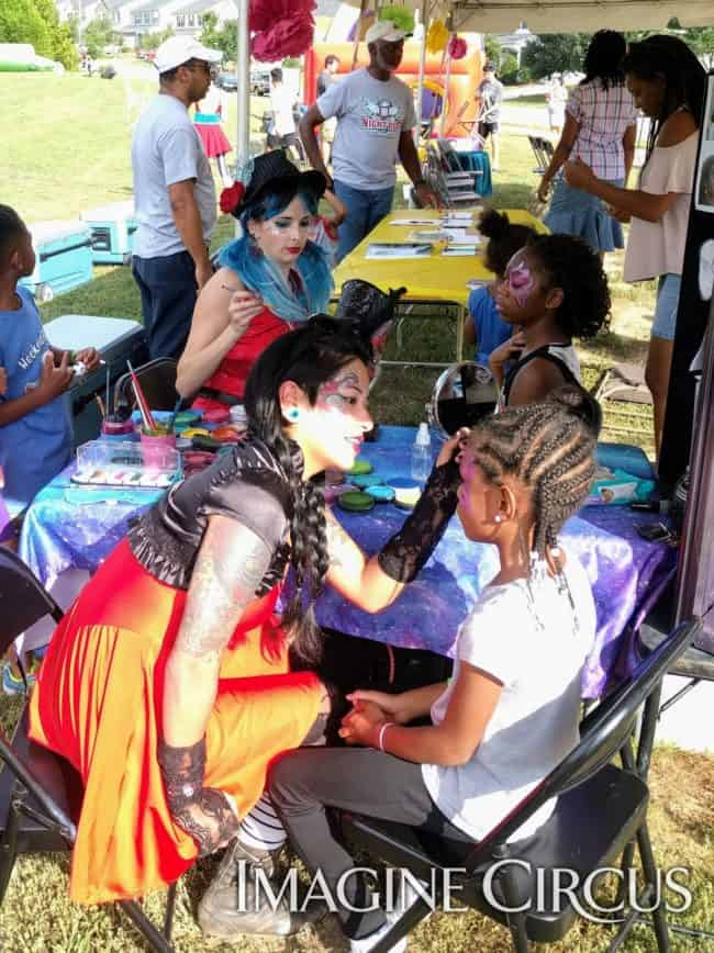 Face Painting, Family-Friendly, Outdoor Festival, Alexa, Imagine Circus, Performer