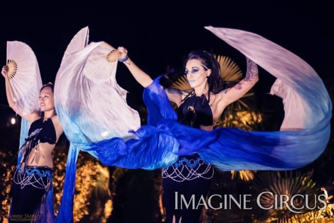 Bellydance, Silk Fans, Imagine Circus, Asyia, Tik-tok, Photographer Bonnie Stanley