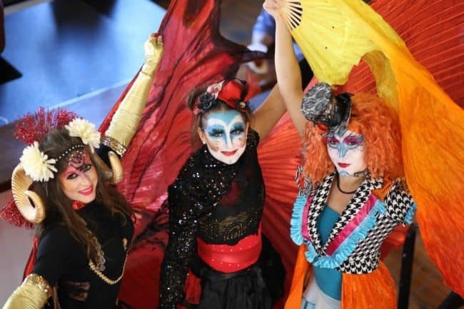Stilt Walkers and Wing Dancers | Modern Cirque | Robin Irene & Mindy | Imagine Circus | Raleigh, NC