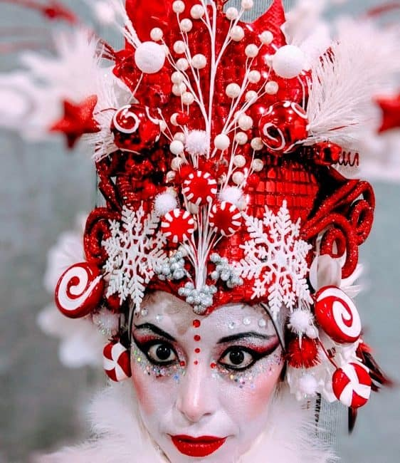 Stilt Walker, Candy Cane Princess, Winter Holiday Entertainment, Kaci, Newport News, Virginia, Imagine Circus Performer