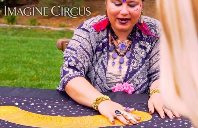 Fortune Teller, Julie, Raleigh Angus Barn Party, Imagine Circus Performer