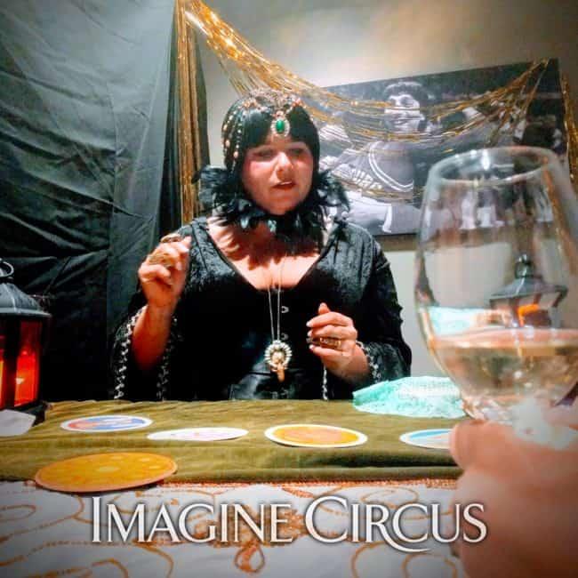 Fortune Teller, Madame Z, City Club Raleigh, Gala, Imagine Circus