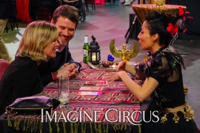 Fortune Teller, Mariela, Black White Red Big Top Cirque, Imagine Circus, Carolina Hurricanes Bash