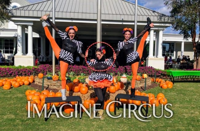 Group Photo, Fall Festival, Autumn, Country Club, NRCC, Liz, Kaci, Katie, Imagine Circus Performers