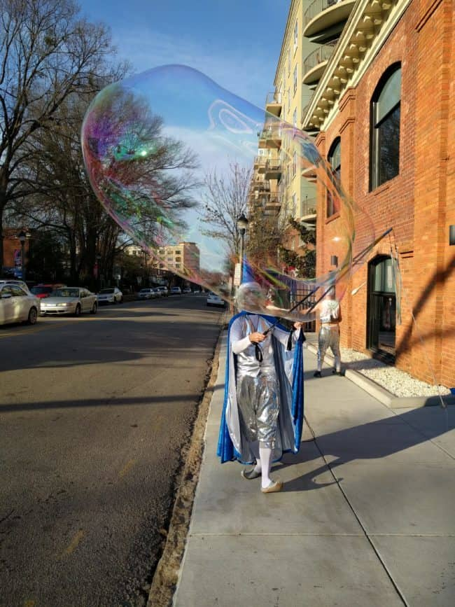 Joey | Interactive Bubble Experience | Bubble Art | Wizard | Performer | Imagine Circus | Cirque | Raleigh, NC