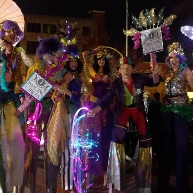 Mardi Gras | Stilt Walkers | Circus Performers | Imagine Circus | Raleigh, NC