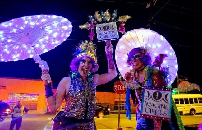 Mardi Gras | Stilt Walkers | Circus Performers | Imagine Circus | Durham, NC