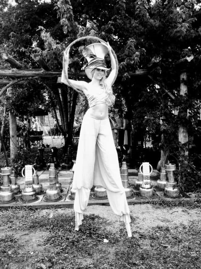 Antique Circus Performer | Hoop & Stilt Walking | Mindy | Imagine Circus | Raleigh NC