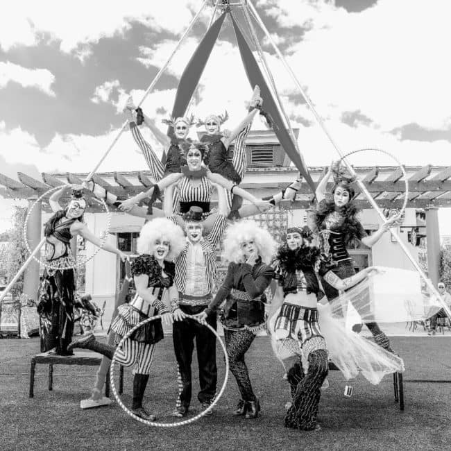 Antique Circus Performers | Group Shot | Imagine Circus | Raleigh NC