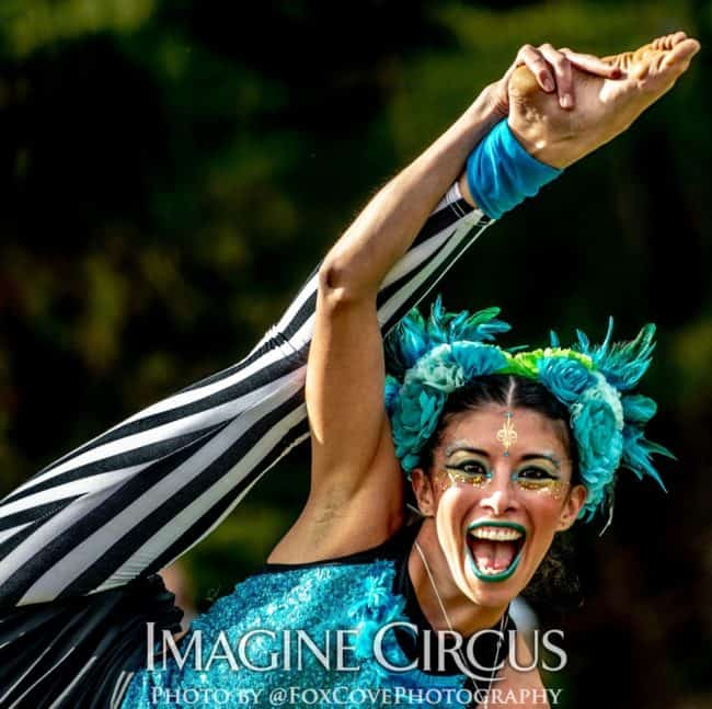 Acrobat, LEAF Festival, Imagine Circus, Performer, Kaci, Photo by Steve Atkins