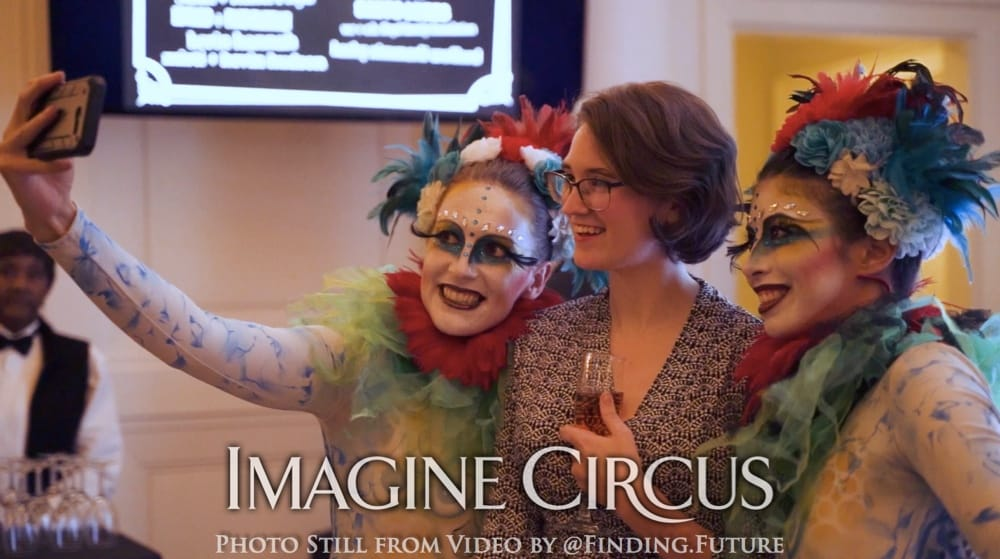 Acrobatic Duo, Teal, Green, Red, Cirque, Imagine Circus, Oddball Gala, Performers, Katie, Kaci, Photo still from video by Finding Future