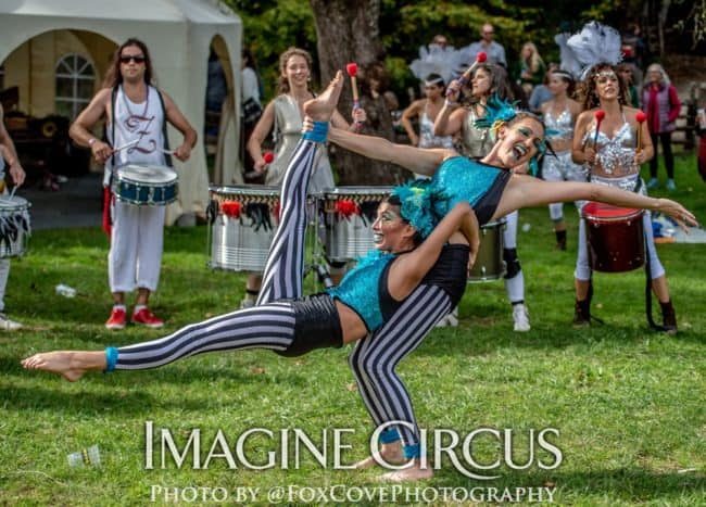 Acrobat Duo, Partner Acrobatics, LEAF Festival, Imagine Circus, Performers, Katie, Kaci, Photo by Steve Atkins
