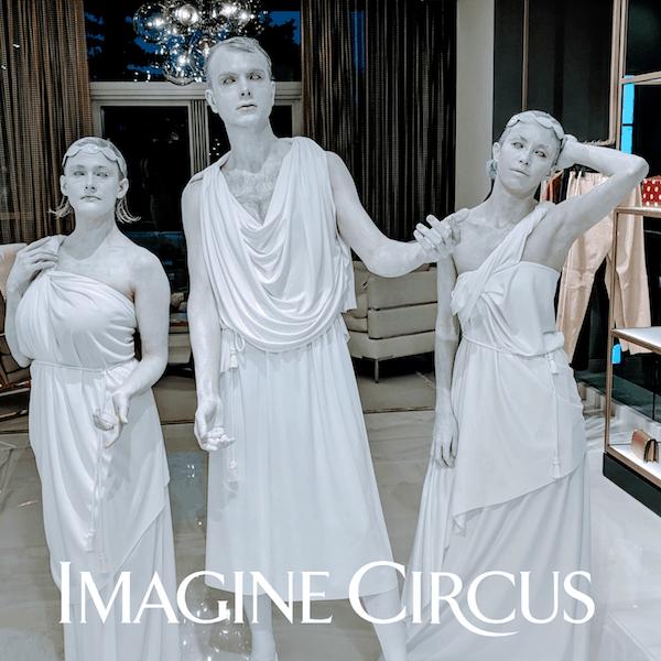 Living Greek Statue, Human Roman Statue, Azul, Jeremy, Kaci, Grand Rapids, MI, Imagine Circus Performers