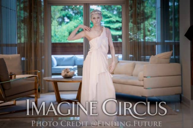 Living Greek Statue, Human Roman Statue, Kaci, Grand Rapids, MI, Imagine Circus Performers, Photo by Finding Future