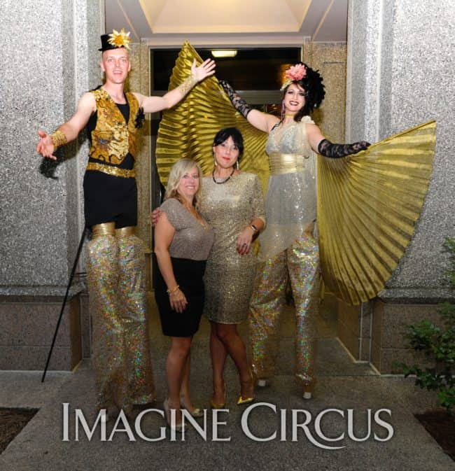 Stilt Walkers, Golden Anniversary Party, Durham, NC, Imagine Circus Performers, Adam, Robin