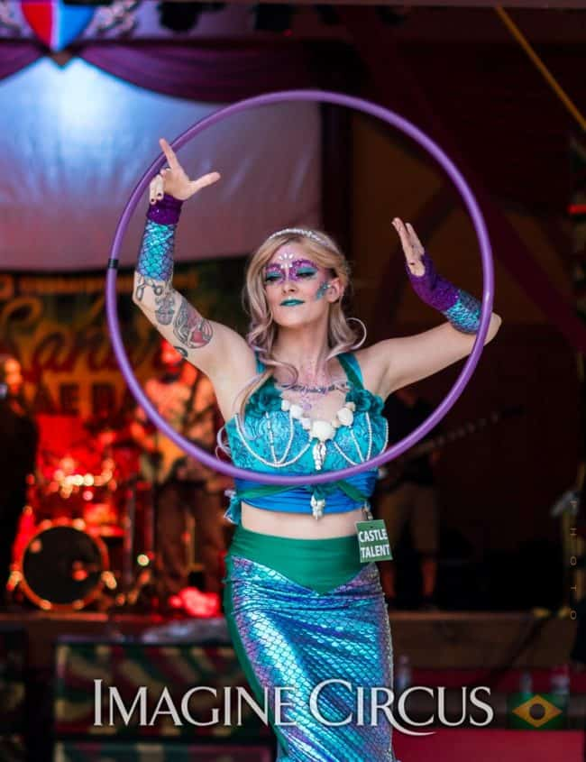 Stilt Walker, Hoop Dancer, Mermaid, Kaylan, Under the Sea, Castle McCulloch, Imagine Circus, Photo by Gus Samarco