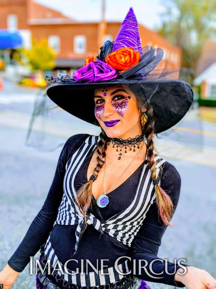 Stilt Walker, Halloween, Fall Festival, Stuart, Virginia, Natali, Imagine Circus Performer
