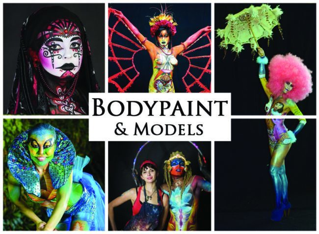 Body Painting & Models | Acts | Imagine Circus | Cirque | Raleigh, NC