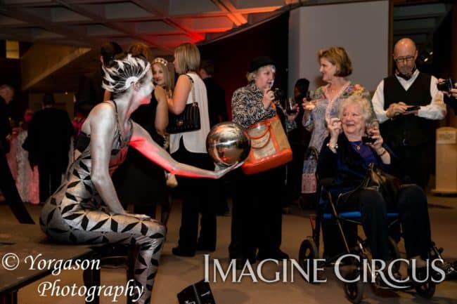 Acrobats, Silver Living Statues, Imagine Circus, Performers, Katie, Kaci, Photo by Ron Yorgason
