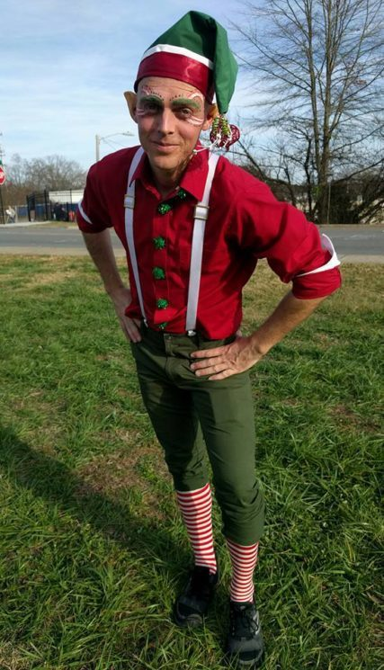 Adam | Winter Holidays | Santa's Elf | Costume | Imagine Circus | Cirque | Raleigh, NC