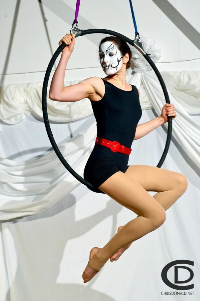 Aerial Performers | Day of the Dead | Partner Lyra | Duo Aerials | Imagine Circus | Cirque | Raleigh, NC