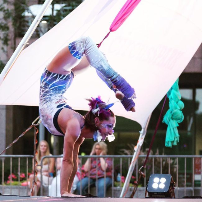 Brittany | Acrobatic Performance | Hand Balancing | Handstand | | Contortionist | Imagine Circus | Cirque | Raleigh, NC