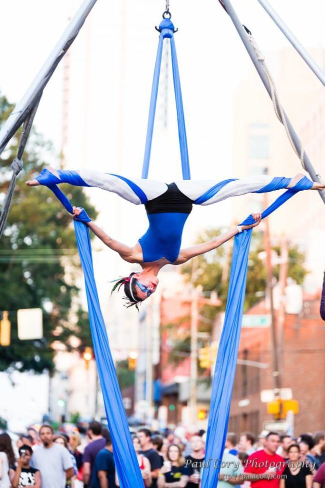 Kaci | Patriotic Holidays | Aerial Performer | Silks | USA | Imagine Circus | Cirque | Raleigh, NC