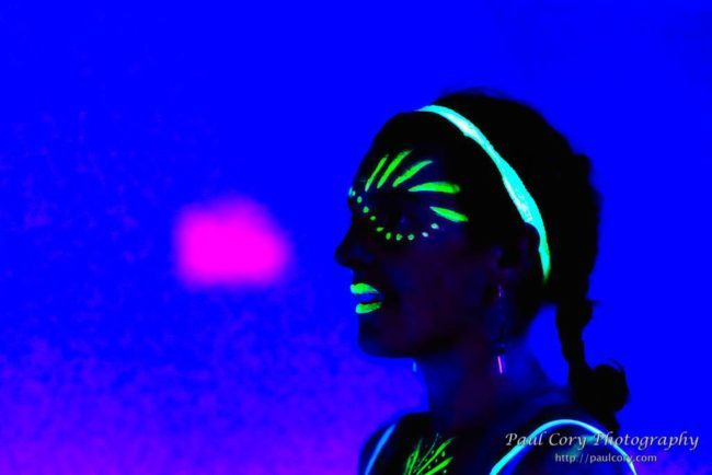 Katie| Neon | Glow | Facepaint | Performer | Imagine Circus | Cirque | Raleigh, NC