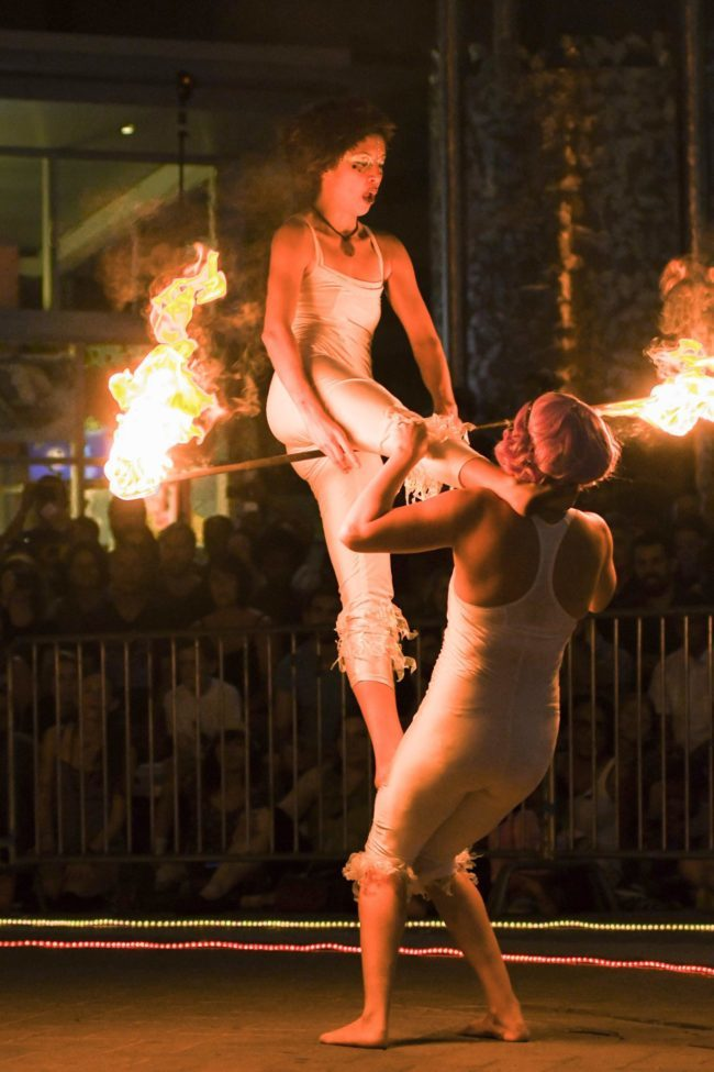 Acrobatic Performance | Fire Acro | Partner | Duo Imagine Circus | Cirque | Raleigh, NC