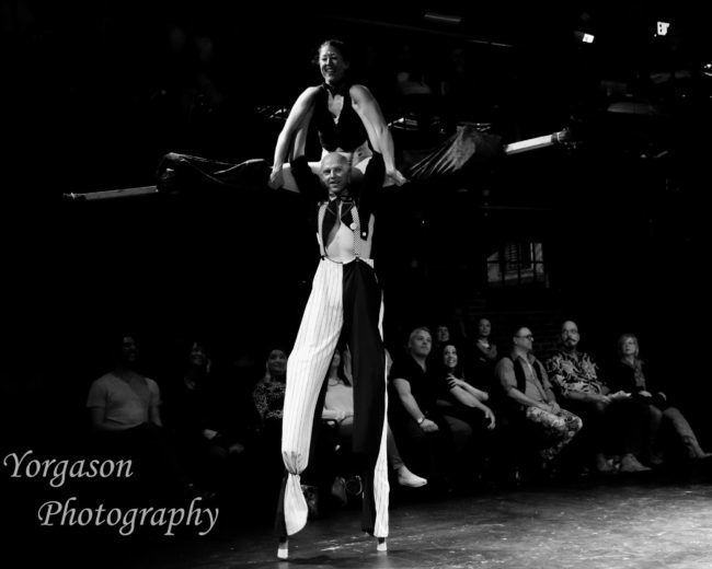 Liz | Adam | Light Pours In | Acrobatic Performance | Acrobatic Stilting | Stilt Walkers | Imagine Circus | Cirque | Raleigh, NC