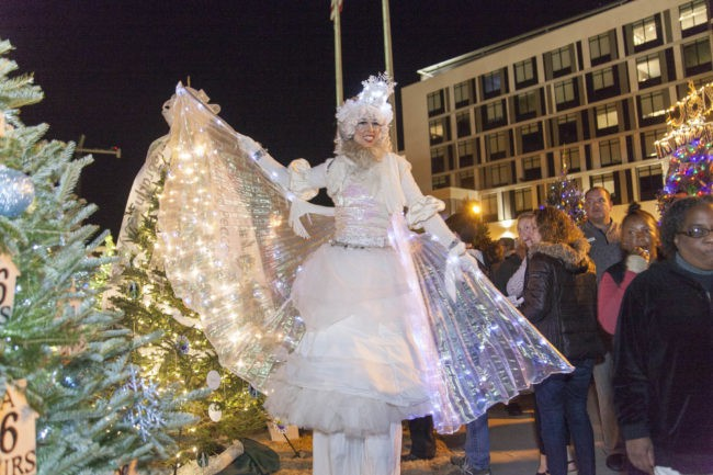 Winter Holidays | Stilt Walker | Snow Princess | LED Wings | Imagine Circus | Cirque | Raleigh, NC