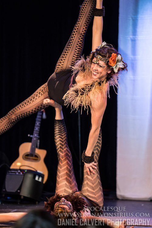 Liz | Tribal | Acrobatic Performance | Partner Acro | Duo | Imagine Circus | Cirque | Raleigh, NC