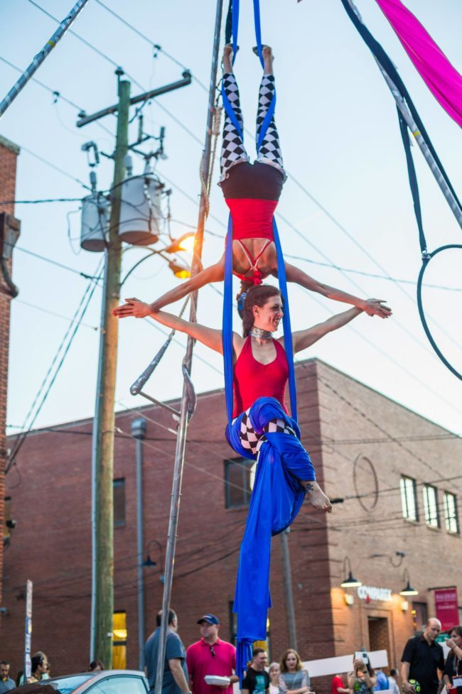 Liz | Big Top Circus | Patriotic Holidays | Aerial Performers | Partner Silks | Duo Aerials | USA | Imagine Circus | Cirque | Raleigh, NC